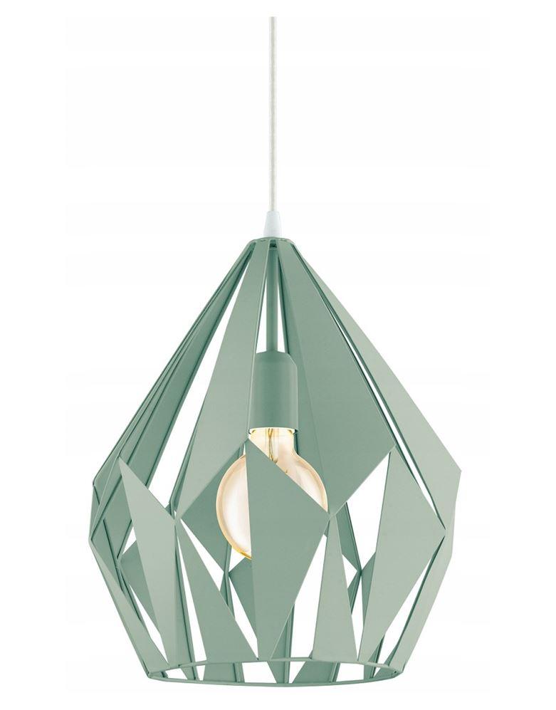 miętowe lampy wiszące