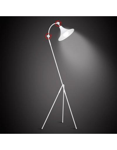 Biała lampa podłogowa ALDEX...