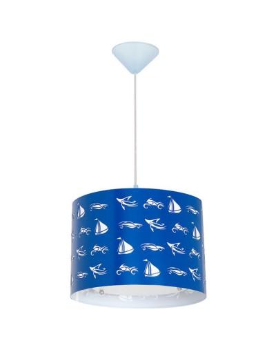 Niebieska lampa sufitowa...