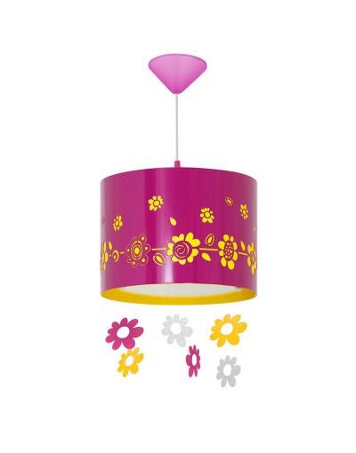 Amarantowa lampa sufitowa...