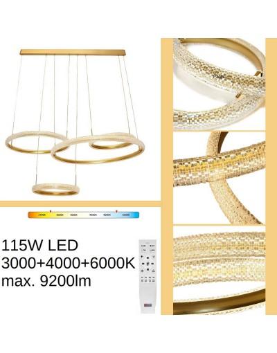 Duża złota lampa wisząca...