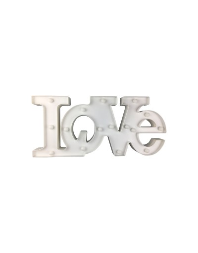 LOVE Dekoracyjny Napis LED 2AA