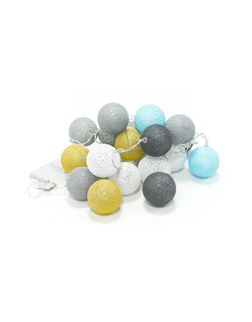 Cottonballs Girlanda świetlna łańcuch Led Kule