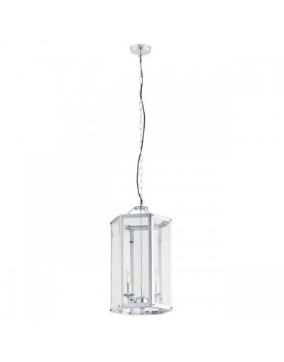 Chromowana lampa wisząca...