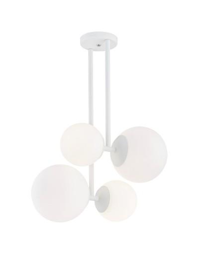 Biała lampa przysufitowa...