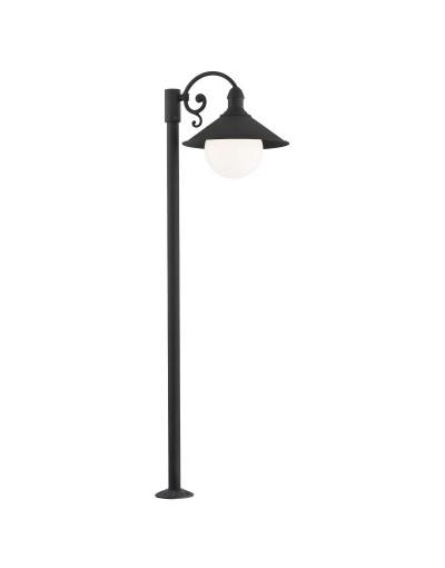 Czarna lampa ogrodowa Argon...
